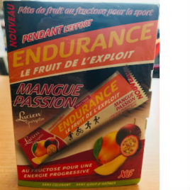 Pâtes de Fruit Goût Mangue Passion Endurance Boite de 6 sticks Lucien Georgelin